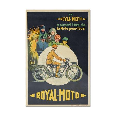 Royal   Moto Vintage Poster  Artist  Jycel  France  8X12 Acrylic Wall Art Gallery Quality
