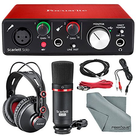 Focusrite Scarlett Solo Studio Kit Bundle ?Contains Focusrite Scarlett Solo (Focusrite Isa428 Mkii 4 Channel Mic Preamp)