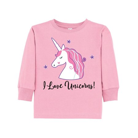 Unicorn Girls Cute Fantasy Gift Toddler Long Sleeve T-Shirt (A Girls Fantasy)