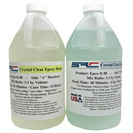 Crystal Clear Epoxy Casting Resin for Coating Wood Tabletop 1 Gallon Kit