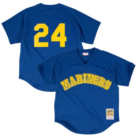 Blue Batting Practice Baseball Jersey - Ken Griffey Jr. Seattle Mariners Mitchell & Ness Cooperstown Mesh Batting Practice Jersey - Royal