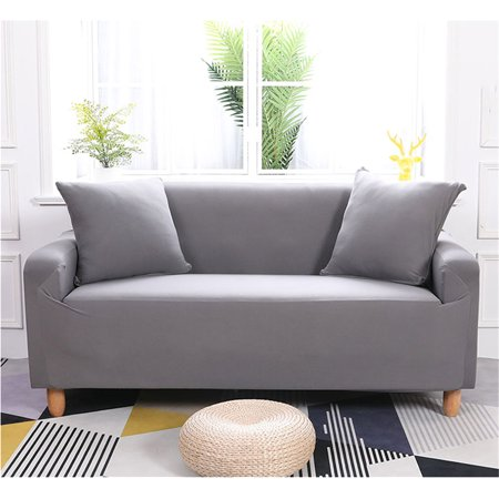 Terrific Eecoo Elastic Anti Wrinkle Couch Covers Solid Color Stylish Sofa Slipcover 1 4 Seat Soft Lightweight Slip Resistant Sofa Furniture Protector Cover Machost Co Dining Chair Design Ideas Machostcouk