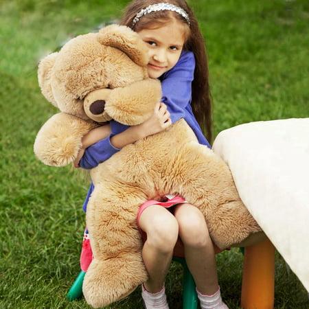 Big Plush Teddy Bear (Teddy Bear, 3.3 FT Cute Big Stuffed Animal Plush Toy, Birthday Gifts for Kids,)