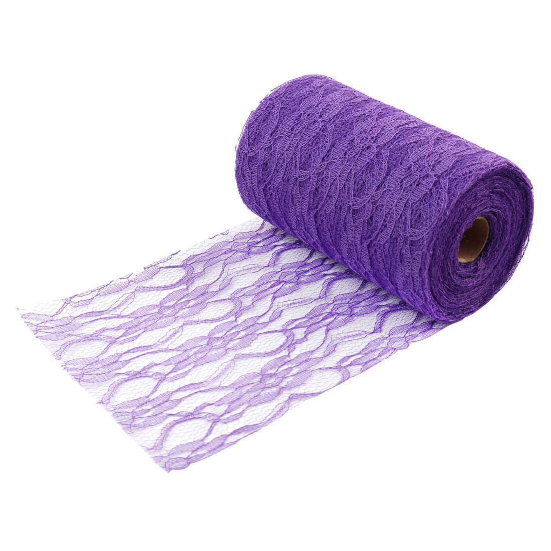 Wedding Party Lace Dress Desk Decor Handicraft DIY Sewing Net Ribbon Dark Purple