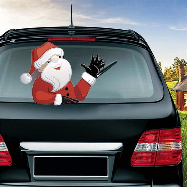 Removable Cute Cartoon Santa Snowman Elf Wiper Sticker for Car Rear Windscreen Wiper Dream-cool Christmas Rear Window Wiper Sticker