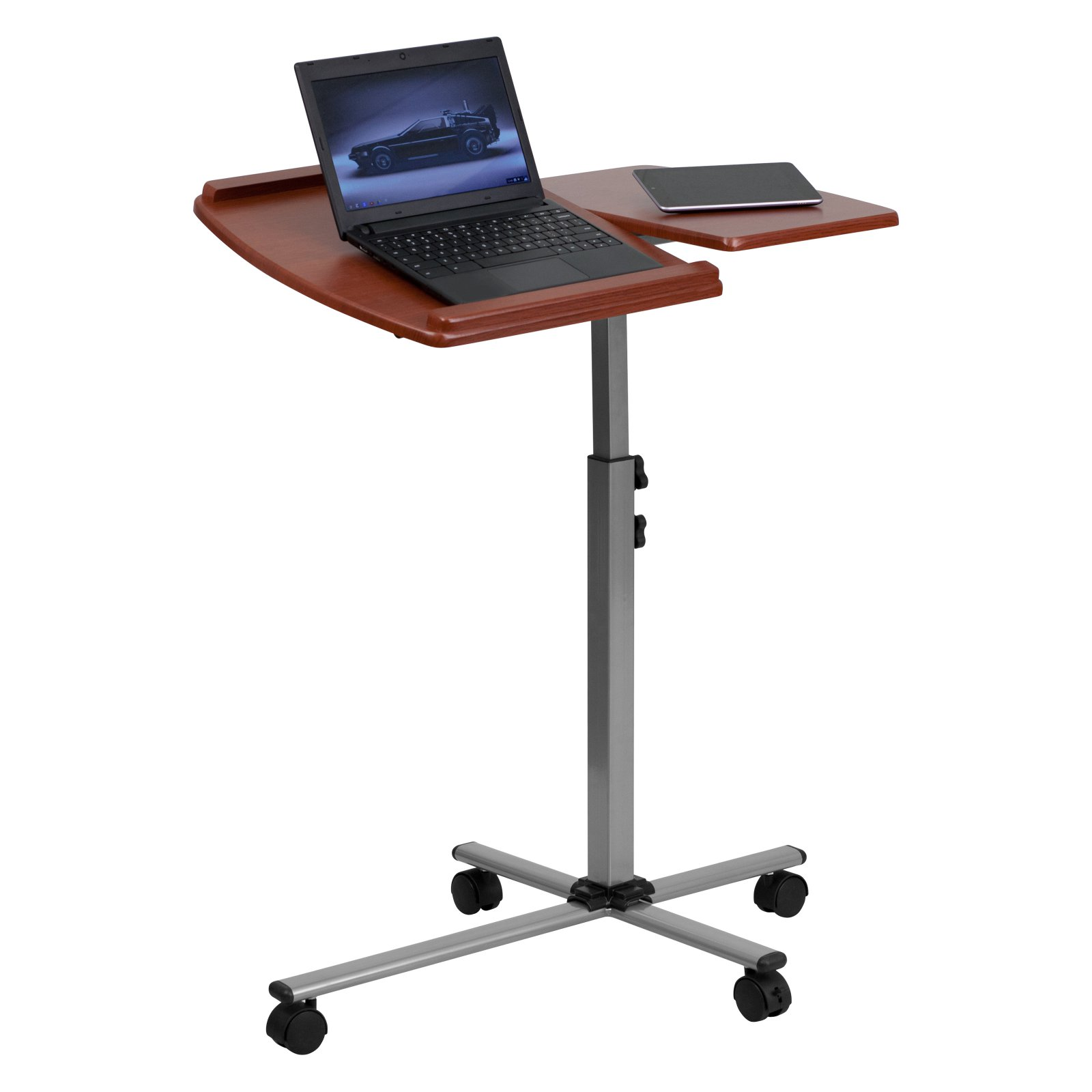 Flash Furniture Angle And Height Adjustable Mobile Laptop Computer Cart