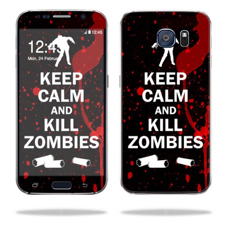 MightySkins Protective Vinyl Skin Decal for Samsung Galaxy S6 G9200 wrap cover sticker skins Kill Zombies (Zombie Skin Suit)