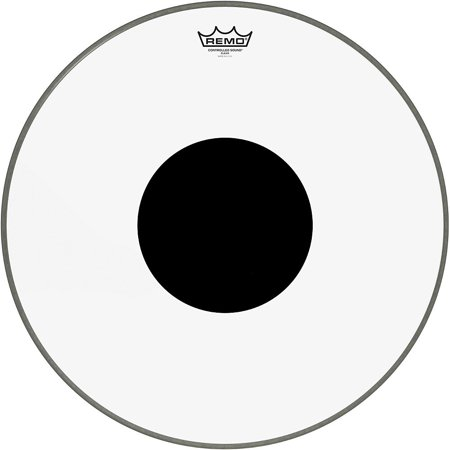 Controlled Sound Clear with Black Dot Bass Drum Head
