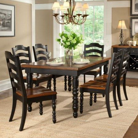 legacy classic furniture concord rectangular leg dining table in distressed burnished black and. Black Bedroom Furniture Sets. Home Design Ideas