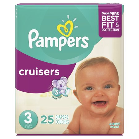 Pampers Cruisers Diapers Size 3, 25 Count