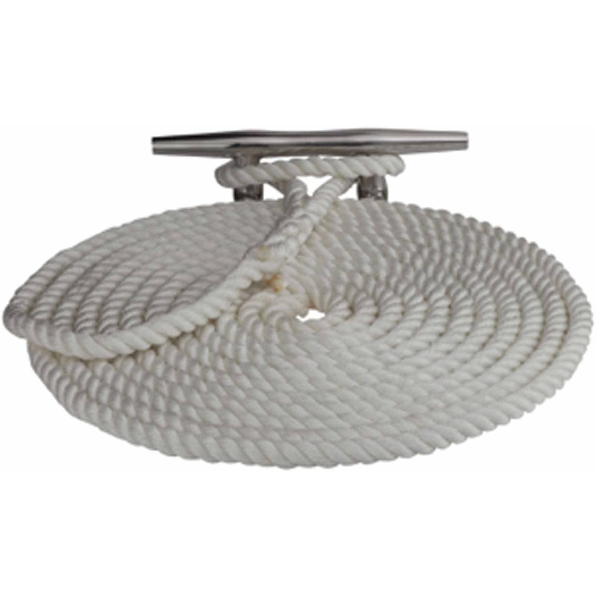 "Click here to buy Sea-Dog 301112050WH-1 Twisted Nylon Dock Line, 1 2"" x 50', White by Sea-Dog."