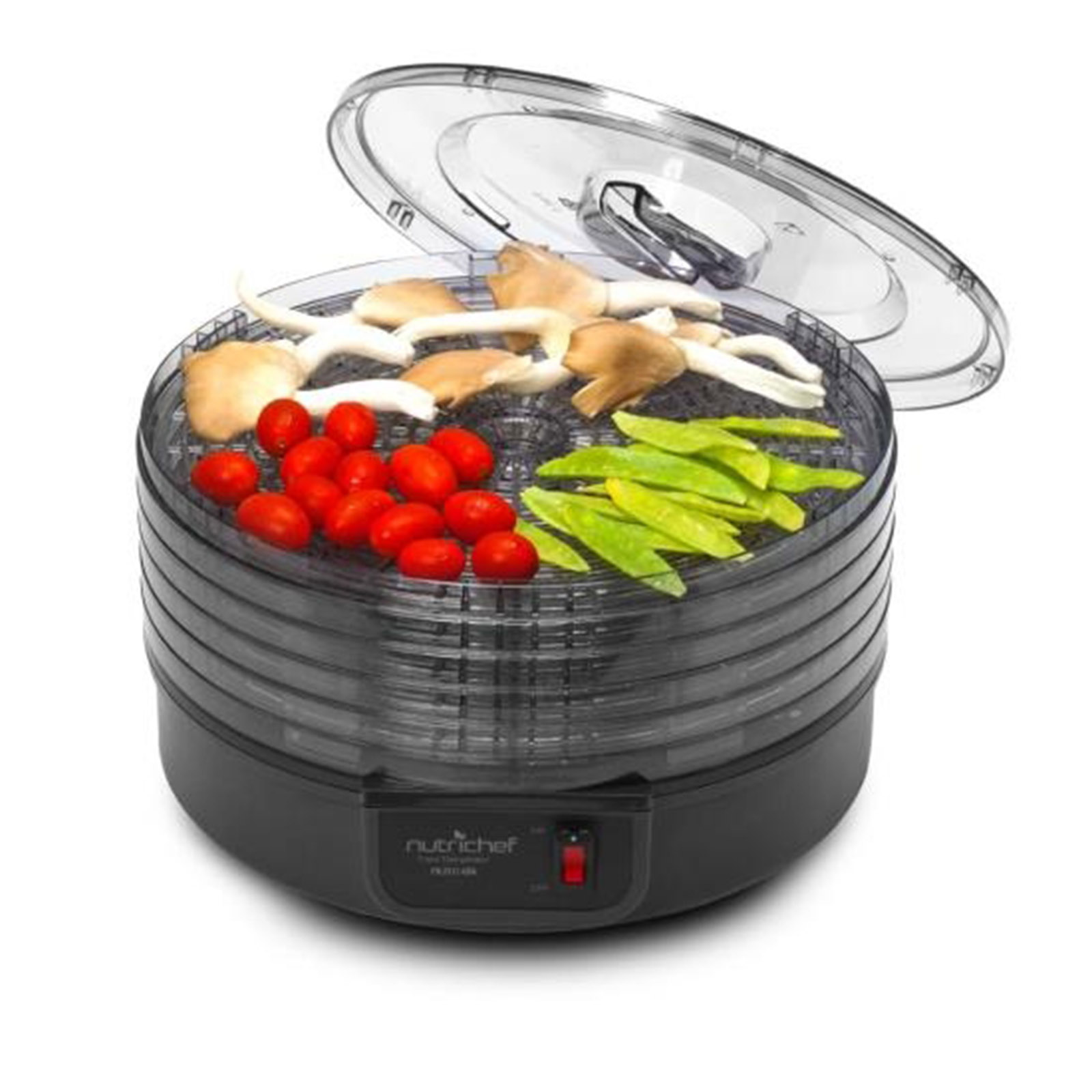 NutriChef Electric Countertop Food Dehydrator, Food Preserver Black by Nutrichef