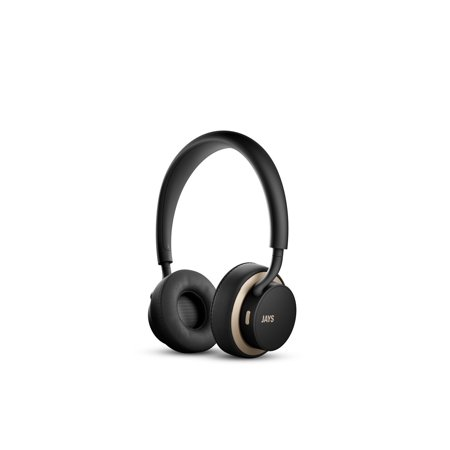 Swedish Type (u-JAYS Wireless Premium Headphones, Designed in Sweden by JAYS, Black on gold)