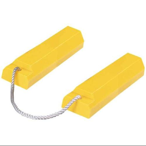 CHECKERS INDUSTRIAL PROD INC AC3518-P Airplane Chock,3 In H,Urethane,Yellow,PR