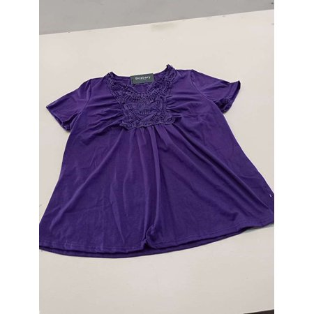Women's Peplum Tops Deep V-Neck Low Cut Ruched Front Short Sleeve T-Shirt - image 3 of 4