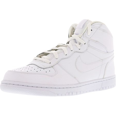 635726622f Nike Men's Big High White/White-Black High-Top Leather Fashion ...
