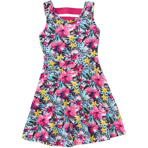 Colette Lilly Dress Obsession Toddler Girls' Floral Printed Scuba Skater Dress