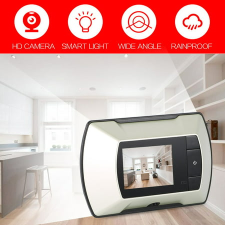 High Resolution 2.4 Video-eye Visual Monitor 100 Degree View Angle Wireless Door Peephole Camera White Video Peephole Security & Protection