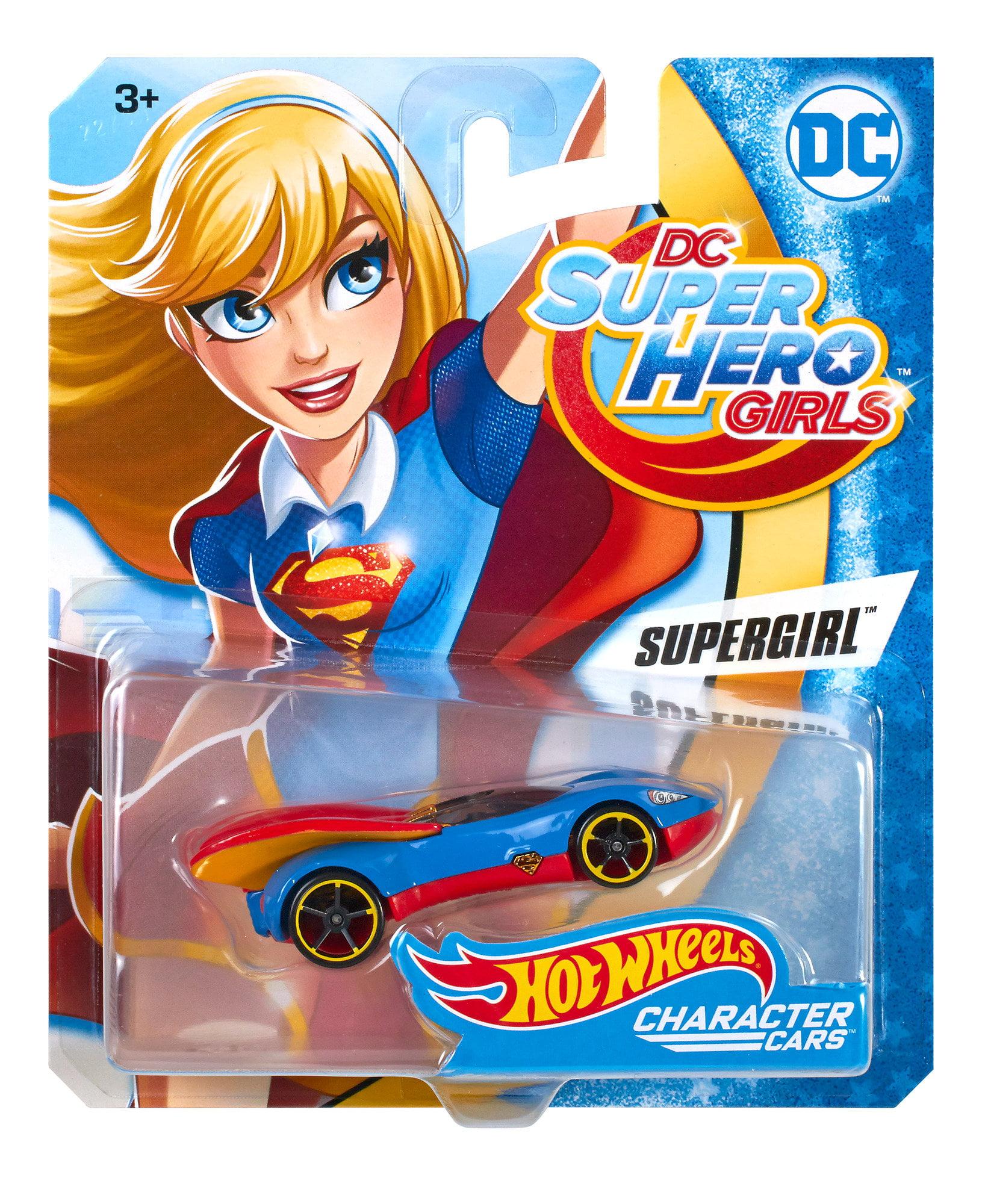 DC Super Hero Girls Hot Wheels Supergirl Character Car by Mattel