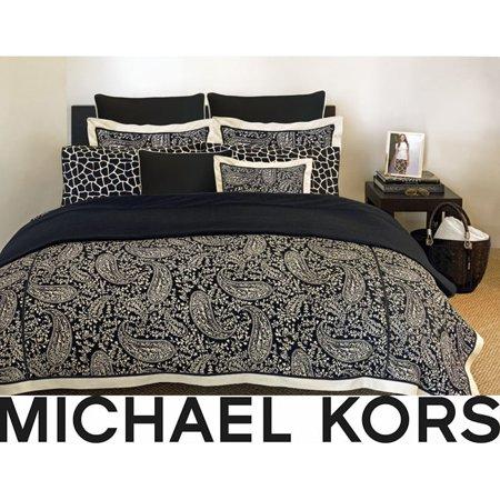 Michael Kors Nairobi Black Queen 4 Piece Comforter Set
