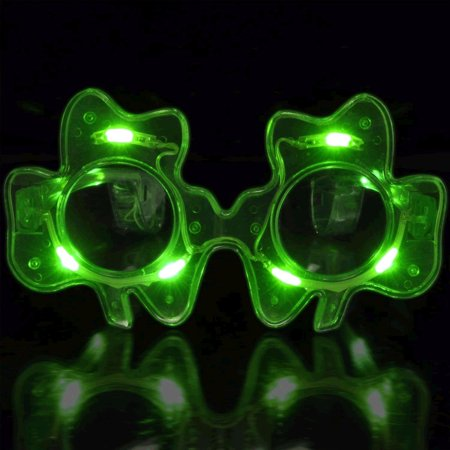 Shamrock LED Sunglasses by, Blinkee Fun! By blinkee