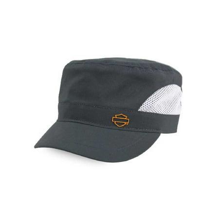 Harley-Davidson Women's Sport H-D Mesh Painter's Cap, Gray & White PC28854, Harley Davidson (White Hurley Hat)