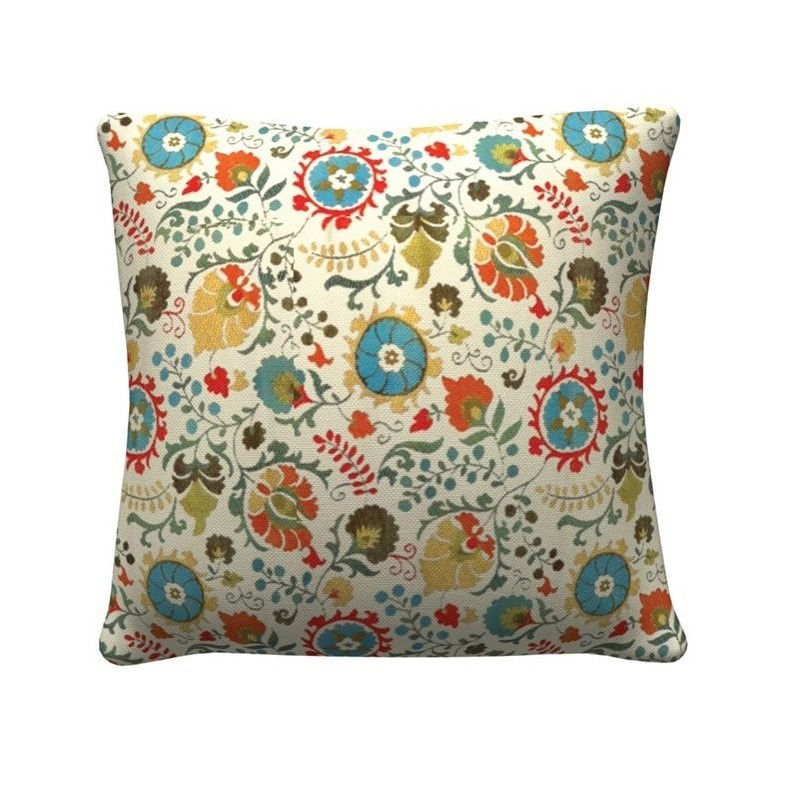 "Coaster 20"" Square Floral Throw Pillow in Mutli (set of 2)"