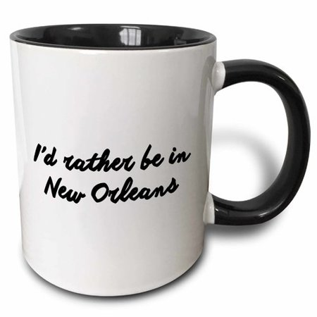 3dRose ID RATHER BE IN NEW ORLEANS, Ceramic Mug, 15-ounce
