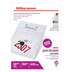 Office Depot Job Ticket Holders, 9in. x 12in., Pack Of 20, R179919