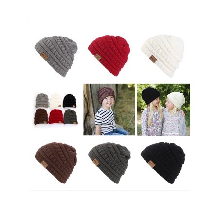 Outdoor Warm All-match Toddler Baby Boy Girl Beanie Hat Winter Knitted Ski Cap