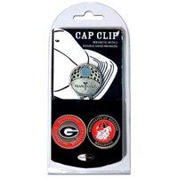 Team Golf NCAA Georgia Cap Clip With 2 Golf Ball Markers