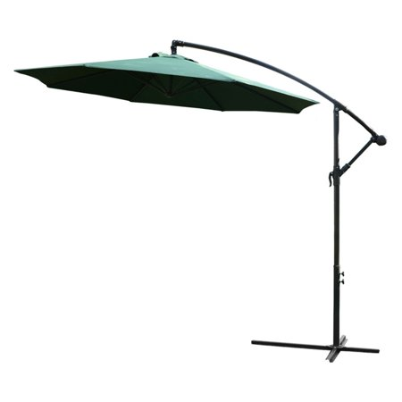 Outsunny 10 ft. Offset Patio Umbrella with Stand