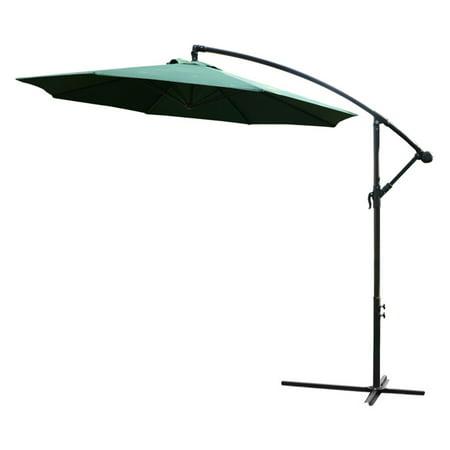 Outsunny 10 Ft Offset Patio Umbrella With Stand Walmart Com