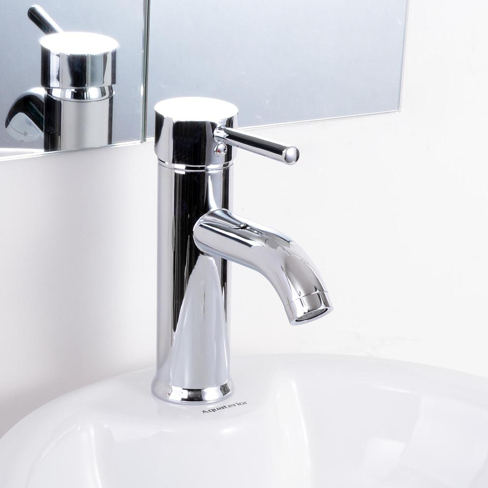 Yescom Single Handle Vessel Sink Brass Faucet Lavatory Bathroom Basin Cold-Hot Mixer One Hole