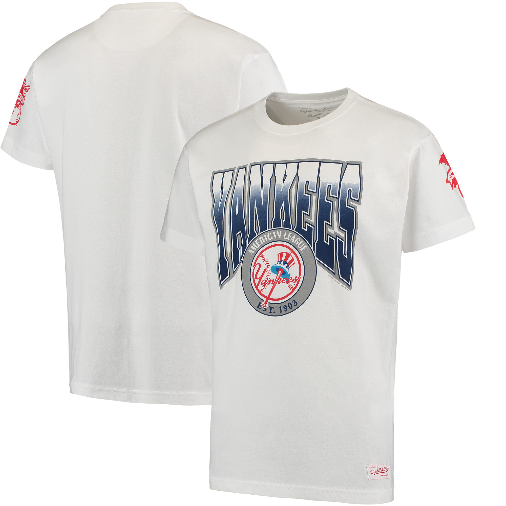 New York Yankees Mitchell & Ness Play By Play Traditional T-Shirt - White
