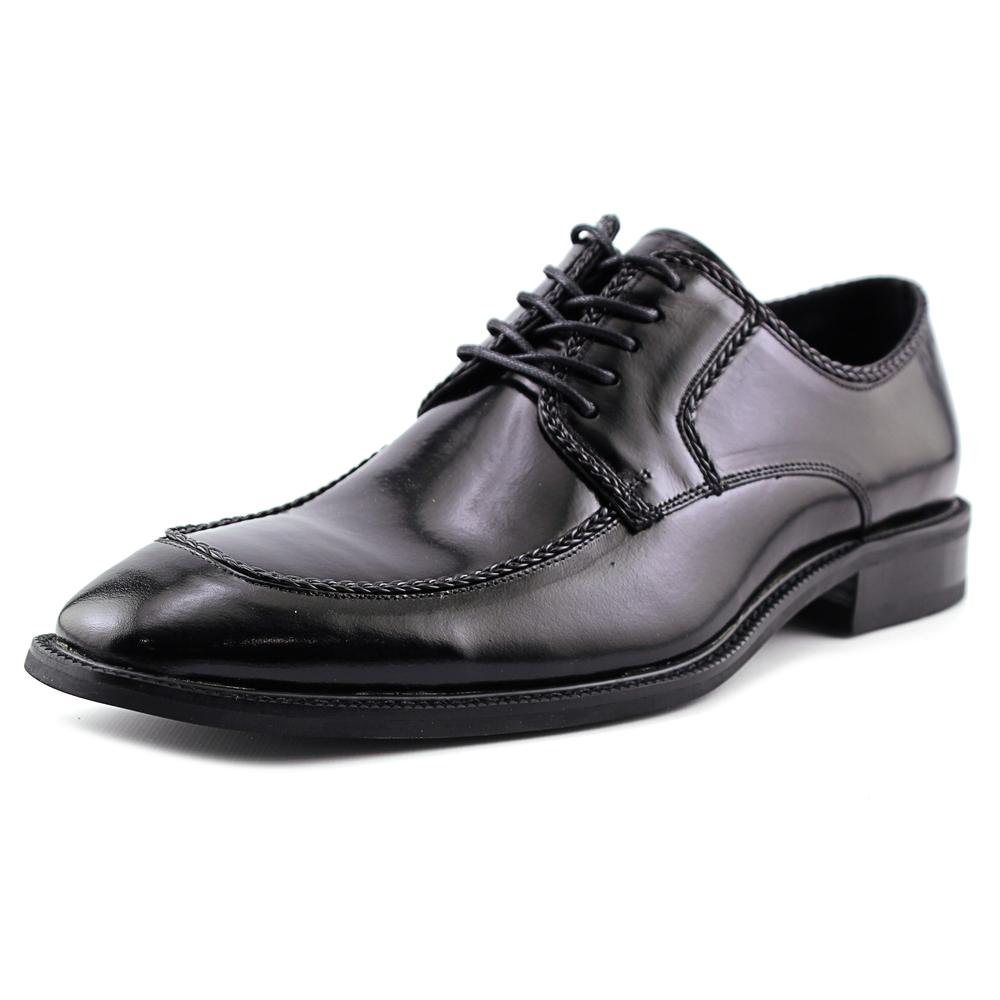Stacy Adams Bramwell Men Apron Toe Leather Black Oxford by Stacy Adams