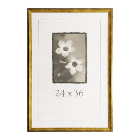 Verona Narrow 24-inch x 36-inch Picture Frame Gold, 24x36 - Walmart.com