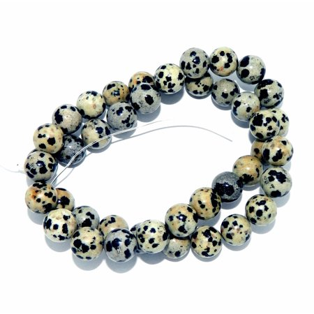 - 8mm Dalmatian Jasper Natural, Loose Beads, 15 Inches of, Loose Beads,