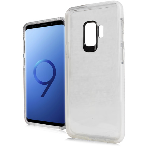 MUNDAZE White Candy Acrylic Clear Case For Samsung Galaxy S9 PLUS Phone