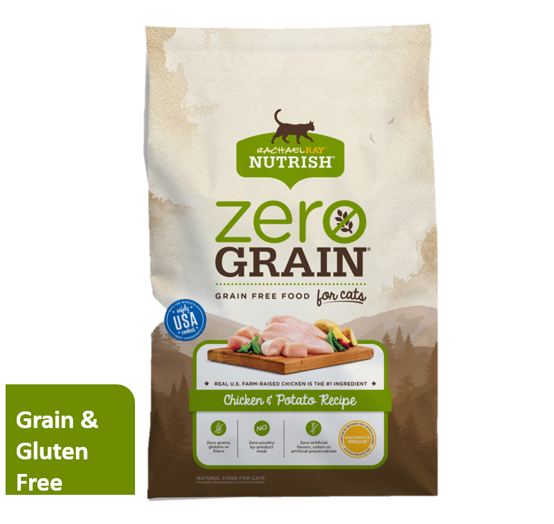 Rachael Ray Nutrish Zero Grain Grain-Free Natural Chicken & Potato Dry Cat Food (Various Sizes)
