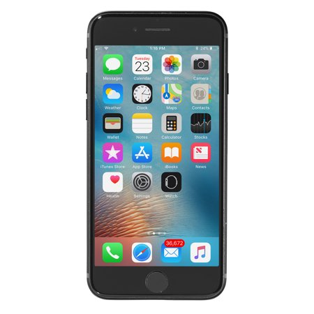 Refurbished- Apple iPhone 7 a1778 32GB Black AT&T Unlocked -Good