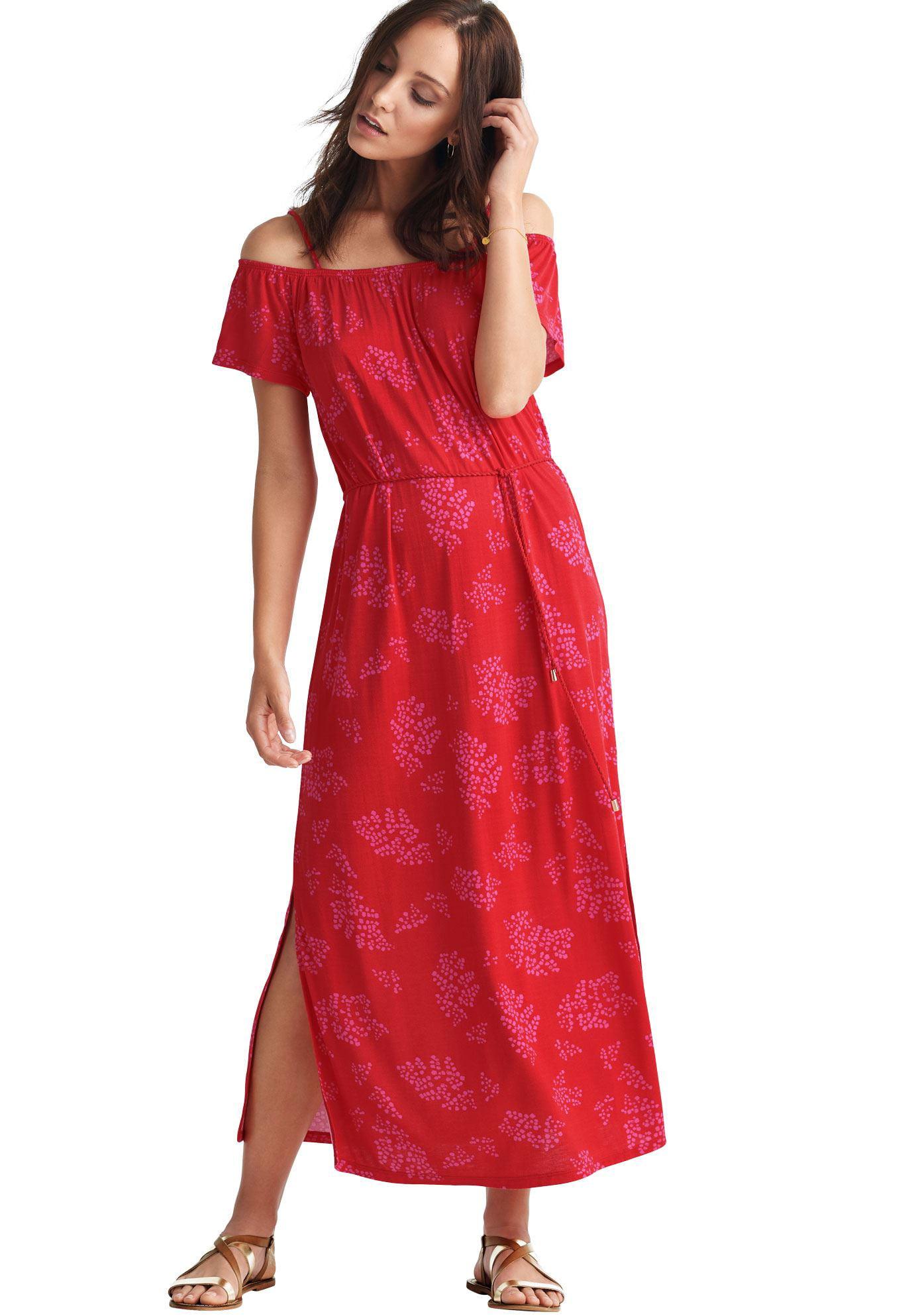Ellos - Plus Size Off-the-shoulder Maxi Dress - Walmart.com