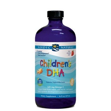 Nordic Naturals Children's DHA Liquid, Strawberry, 16 Oz