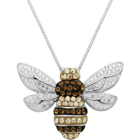 plated lisabel swarovski bee bumblebee crystal gold women john zoom necklace
