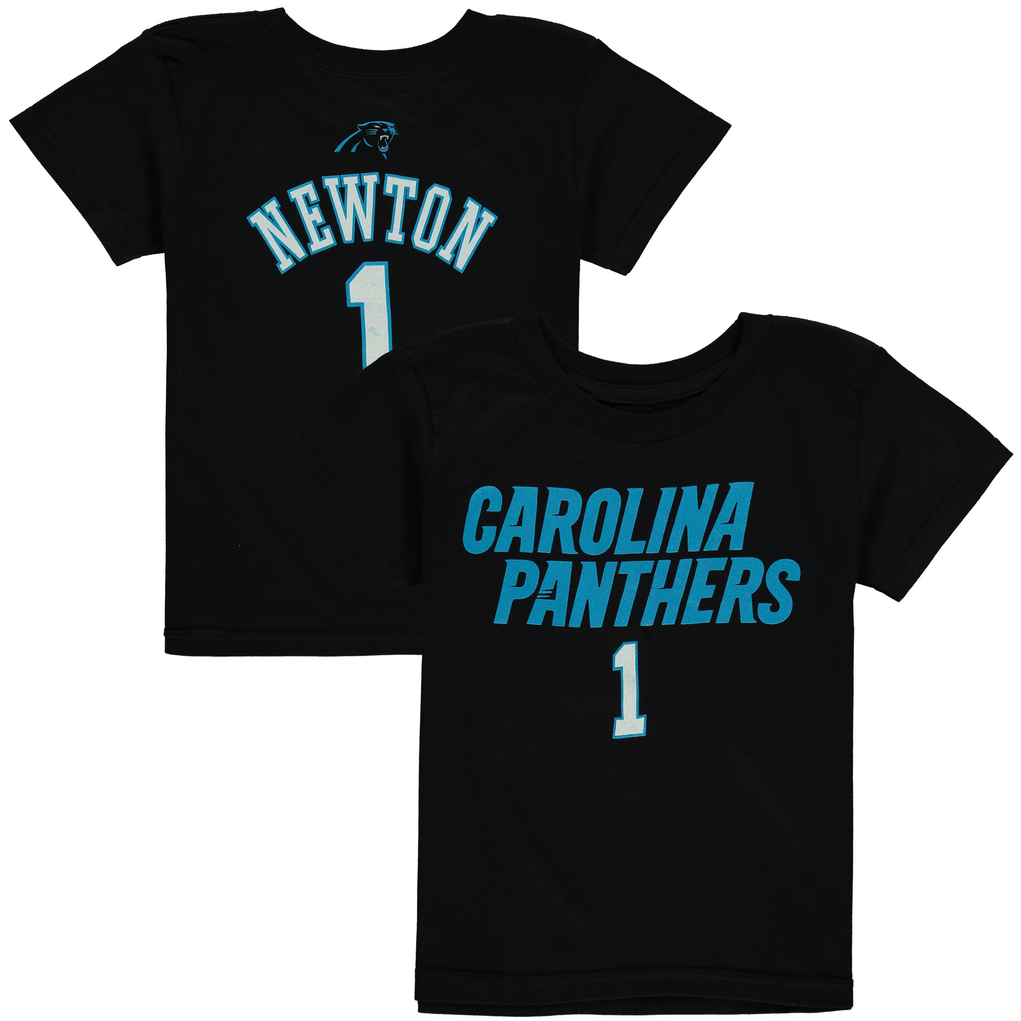 Cam Newton Carolina Panthers Preschool Primary Gear Name & Number T-Shirt - Black