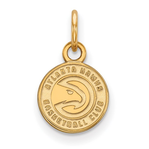 NBA Atlanta Hawks 14kt Gold-Plated Sterling Silver Extra Small Pendant