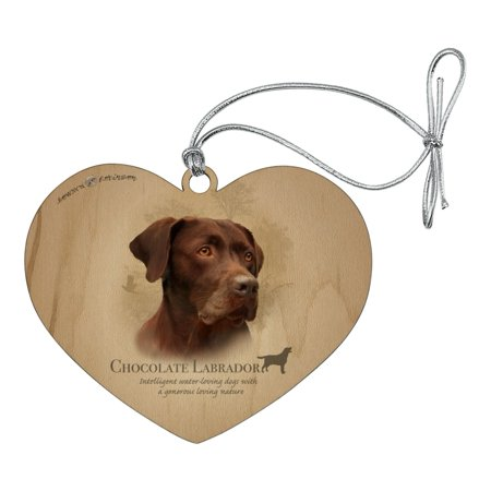 Chocolate Lab Labrador Dog Breed Heart Love Wood Christmas ...