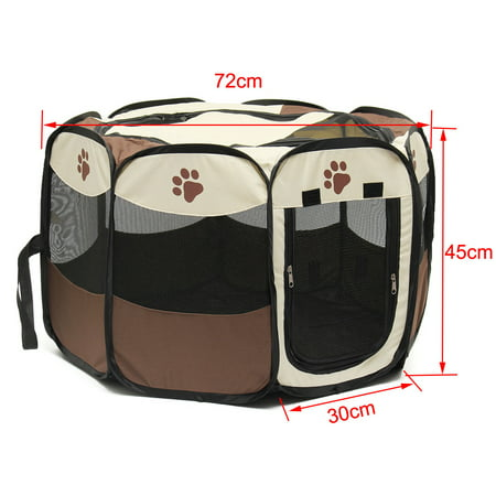 Pet Toys for Dog Cat - 9.5 inch Giant Rubber Pet Play Training Tennis Ball - Pet Folding Playpen Fence Exercise Pen Carrying Case/Bag - image 2 of 6