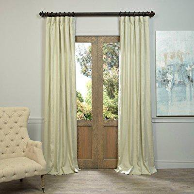 half price drapes ln-xs5100-120 linen curtain, khaki