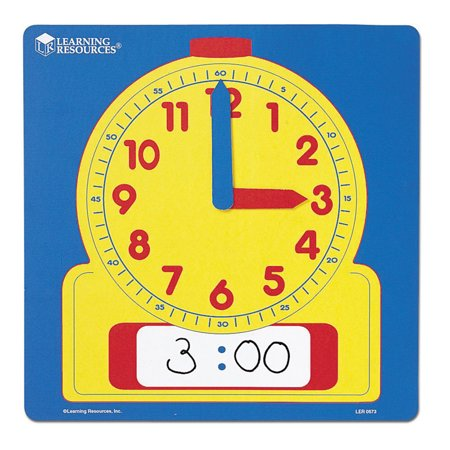 Learning Resources Write-On/Wipe-Off Demonstration Clock